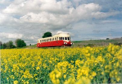 Ancient train in Eure Valley
