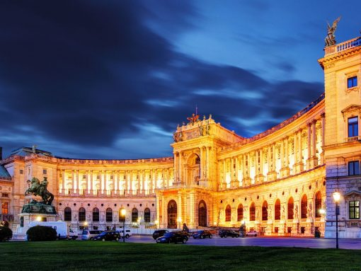 Austria Vienna Hofburg Palace Night