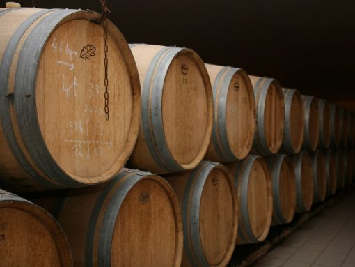 France Bordeaux Red Wine Barrels