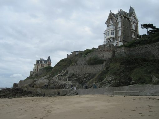 France Normandy beach and houses
