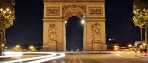 France Paris Arc de Triomphe Night
