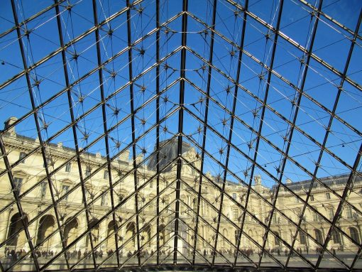 France Paris Louvre Pyramid 1