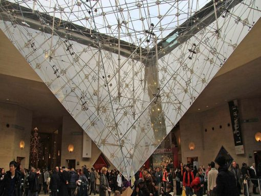 France Paris Louvre Pyramid interior