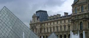 France Paris Louvre Pyramids