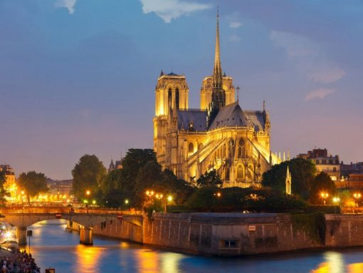 France-Paris-Notre-Dame-de-Paris-Night