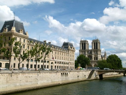 France Paris Notre Dame view from Seine river