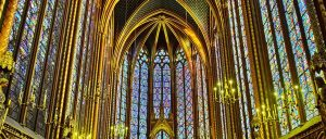 France Paris Sainte Chapelle inside