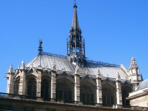 France Paris Sainte Chapelle roofs