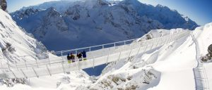 Sitzerland Mount Titlis region CliffWalk Winter
