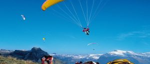 Sitzerland Mount Titlis region Paragliding