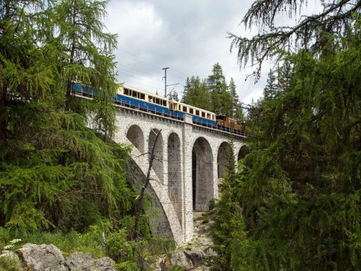 Switzerland Chocolate Train Bridge