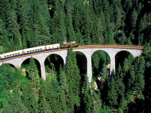 Switzerland Chocolate train bridge and forest