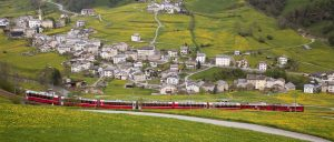 Switzerland Glacier Express Village Summer
