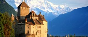 Switzerland Lake Geneva Chillon Castle
