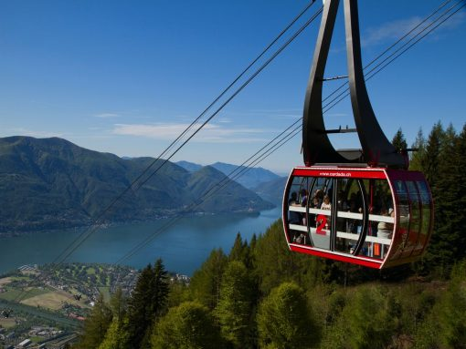 Switzerland Locarno Cable Car Red