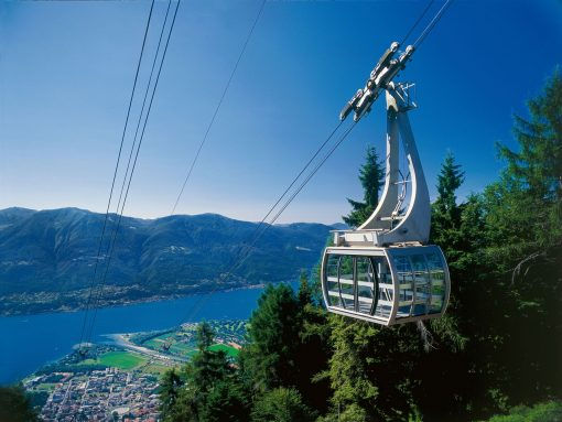 Switzerland Locarno Cable Car white