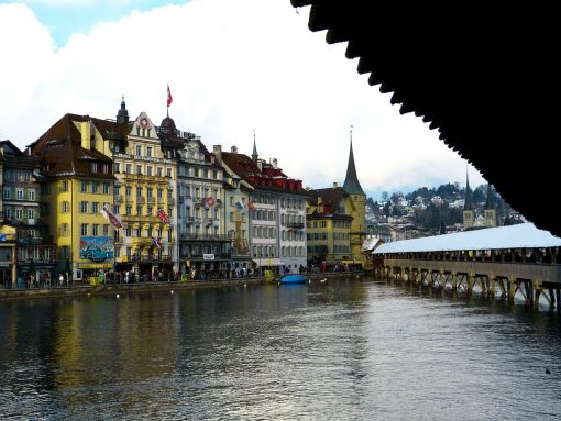 Switzerland Lucerne Chapel Bridge