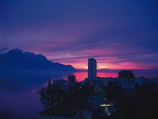 Switzerland Montreux Evening