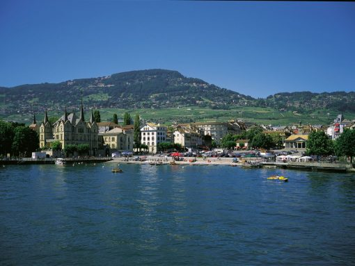 Switzerland Montreux beach