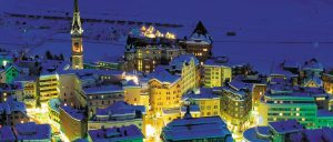 Switzerland St Moritz Winter Night