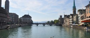 Switzerland Zurich Old Town bridge