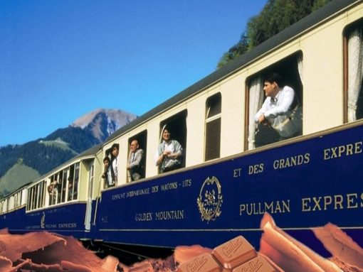 Switzerland chocolate train